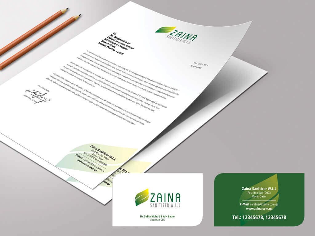 corporate letterhead design qatar